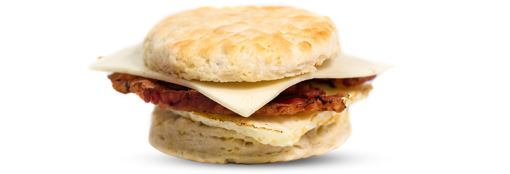 Bacon, Egg, & Hot Pepper Cheese Biscuit