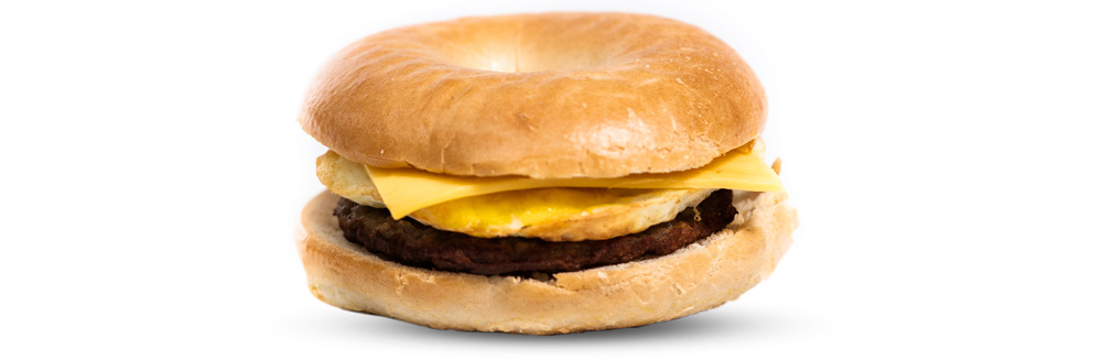 Sausage, Egg, & American Cheese Bagel