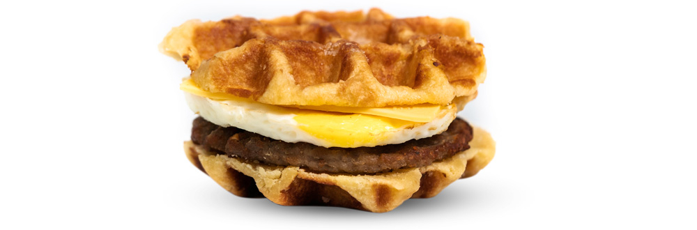 Sausage, Egg, & American Cheese Waffle