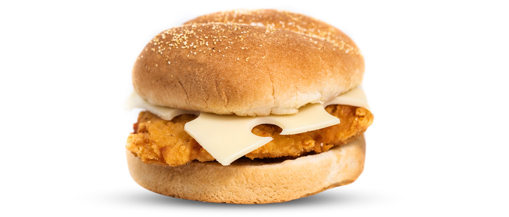 Crispy Chicken & Swiss Cheese Sandwich